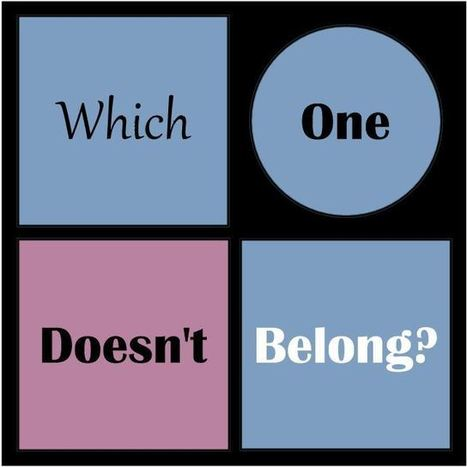 Which One Doesn't Belong? | Thinking Clearly and Analytically | Scoop.it