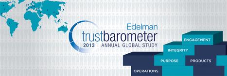 2013 Edelman Trust Barometer | The Course of Integrity | Scoop.it