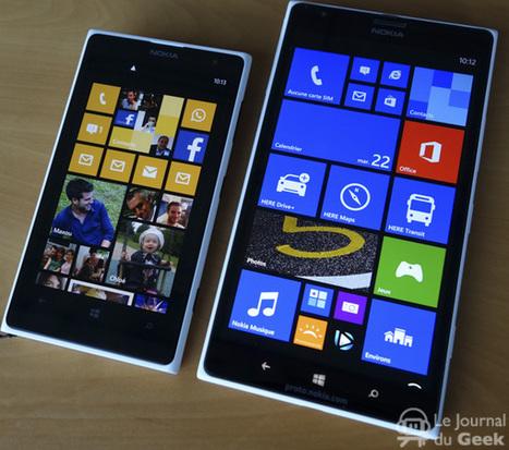 Prise en main : Nokia Lumia 1520 et Lumia 1320 | Geeks | Scoop.it
