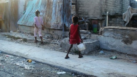 Restavek children in port au prince , Haiti