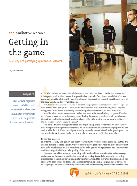 Gamifying Qualitative Research | Good Pedagogy | Scoop.it
