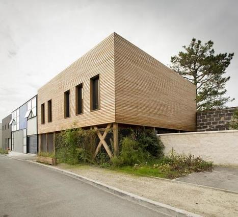 [inspiration] Maison avec toit-jardin à Bordeaux-Benauge | architecture..., Maisons bois & bioclimatiques | Scoop.it