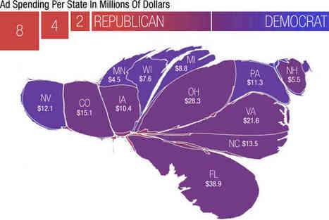 A Campaign Map, Morphed By Money | Mrs. Nesbitt's Human Geography World | Scoop.it
