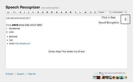 Speech Recognizer, convierte voz a texto con esta app para Chrome.- | Educacion en la era Digital | Scoop.it