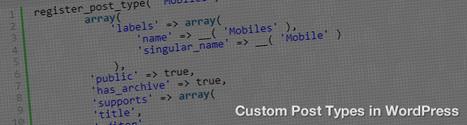 Custom Post Types in WordPress | Lectures web | Scoop.it