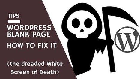 WordPress Blank Page: Find and Fix the Source of White Screen of Death | WordPress Tips and Tricks | WordPress | Free & Premium WordPress Themes | Scoop.it