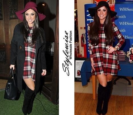 3e7cd017039b84 Buy Celebrity Vicky Pattison Tartan Swing Dress...