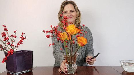 Orange Red Flower Arrangement • Ikebana Beautiful | TRENDBUBBLES | Scoop.it
