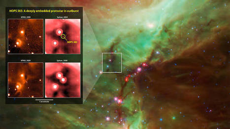NASA Satellites Catch 'Growth Spurt' from Newborn Protostar | Amazing Science | Scoop.it