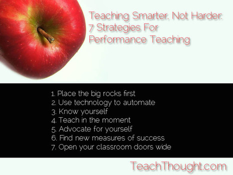 Teaching Smarter, Not Harder: 7 Strategies For Performance Teaching | Pedagogy | Scoop.it