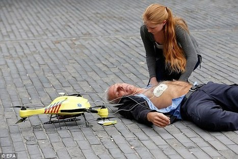 Flying defibrillator that can reach speeds of 60mph revealed | Daily Mail | Robohub | Scoop.it