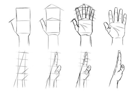 Hand drawing reference guide