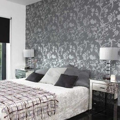 papier peint chambre adulte tendance tissu d 39. Black Bedroom Furniture Sets. Home Design Ideas