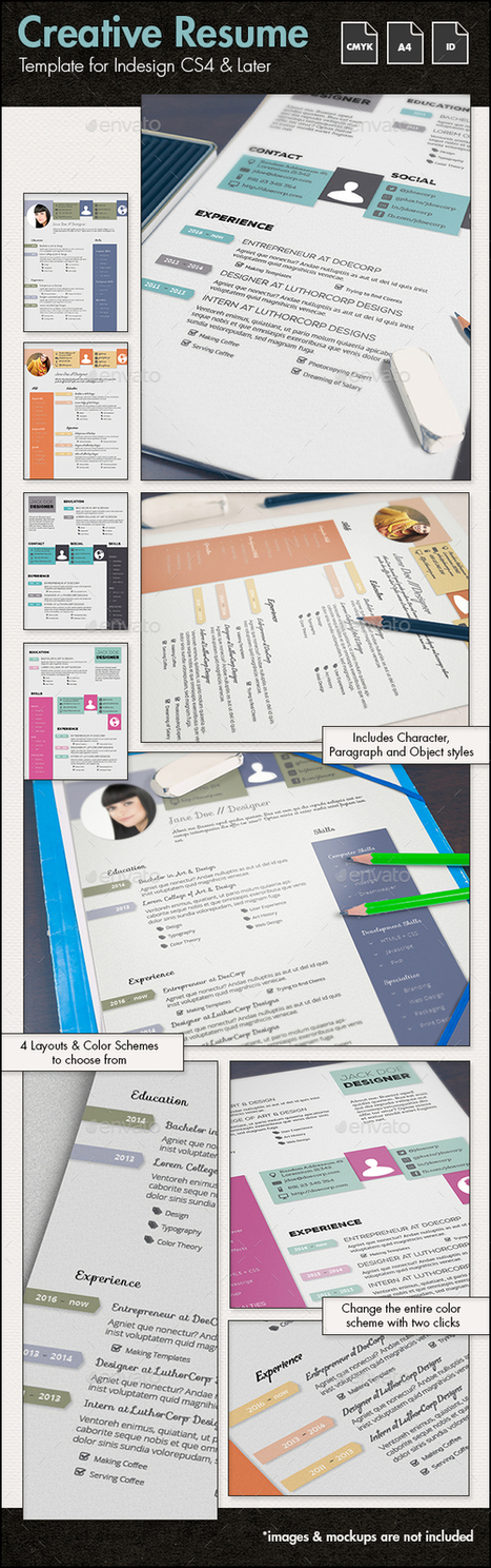 Creative CV/Resume Template - A4 Portrait | About Design | Scoop.it
