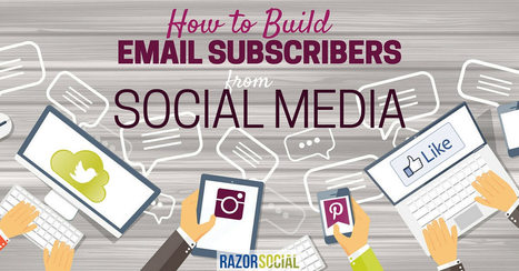 How to build email subscribers from social media | SOCIALFAVE - Complete #SMM platform to organize, discover, increase, engage and save time the smartest way. #TOP10 #Twitter platforms | Scoop.it