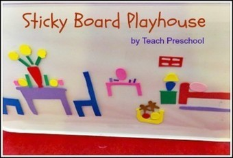 At play with the sticky board playhouse | Happy Days Learning Center - Resources & Ideas for Pre-School Lesson Planning | Scoop.it
