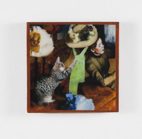 Degas' Hat Shop Cat Refrigerator Magnets | Cat Art | Scoop.it
