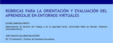 Rúbricas para la orientación y evaluación del aprendizaje en entornos virtuales | Experiencias educativas en las aulas del siglo XXI | Scoop.it