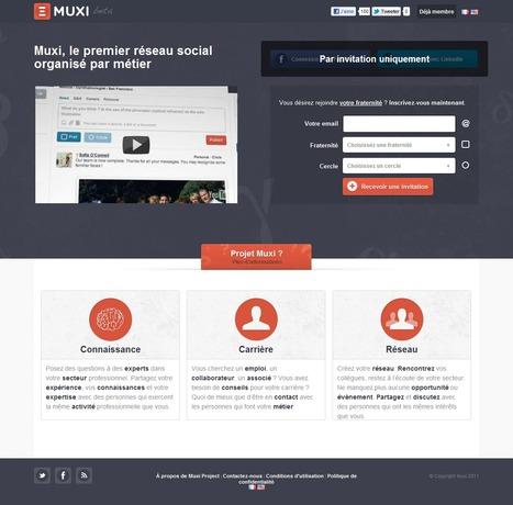 Muxi : réseau social organisé par métier   Time to Learn   Scoop.it