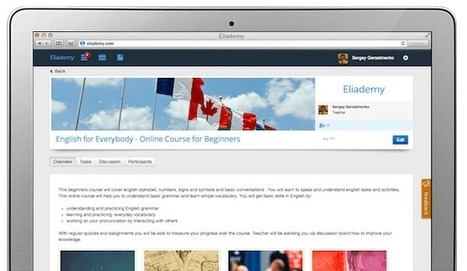 Eliademy - For Creating and Managing Online Classes | Internet 2013 | Scoop.it