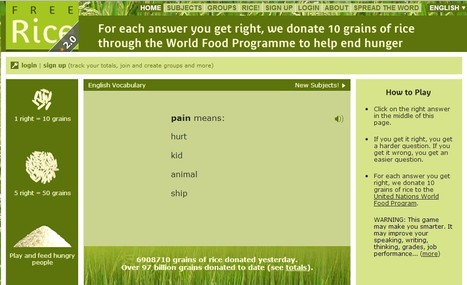 #English: Play online, learn online and feed the hungry   Freerice.com   Wepyirang   Scoop.it