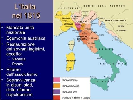 Cartina Dell Italia Nel 1815.L Italia Del 1815 Dopo La Restaurazione La Re