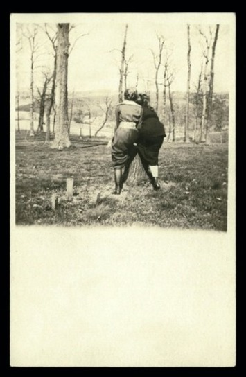 Antique Real Photo Postcard Featuring Female Backsides|Inherited Values | Herstory | Scoop.it