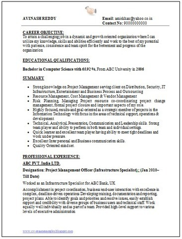 Computer Science Resume. Computer Science Resumes Canada Samples ...