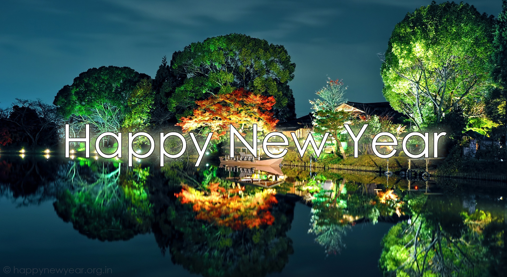 New Year Greetings Of Scenic Beauty New Year