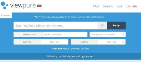 ViewPure. Les vidéos de Youtube et seulement les vidéos | Langues, TICE & pédagogie | Scoop.it