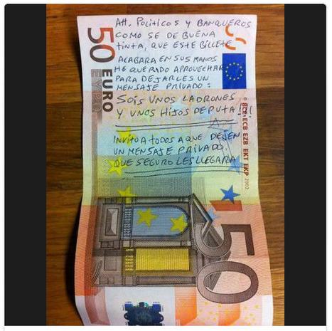 Toute la COLÈRE de l'Espagne sur les billets de banque   Le BONHEUR comme indice d'épanouissement social et économique.   Scoop.it