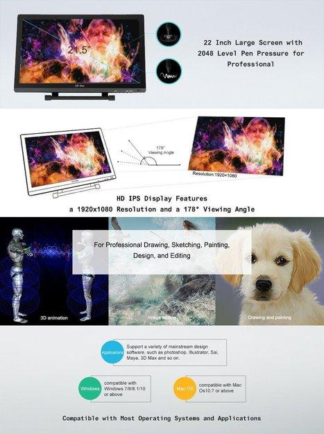 XP-PEN Artist22 22inch HD IPS Graphic Pen Displ
