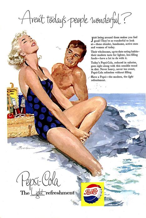 Pepsi Ads, 1950s | Visual & digital texts | Scoop.it