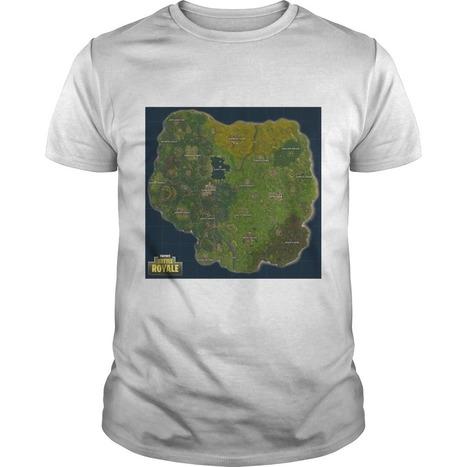 Fortnite Battle Royale Map Shirt Hoodie Tank