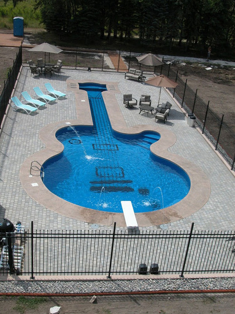 Alluring Les Paul Guitar-Inspired Swimming Pool | Design | News, E-learning, Architecture of the future at news.arcilook.com | Architecture e-learning | Scoop.it
