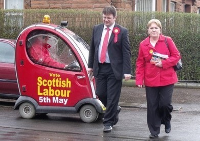 Wings Over Scotland | The lame duck - Johann Lamont - in charge of a scooter | War in Labour | YES for an Independent Scotland | Scoop.it