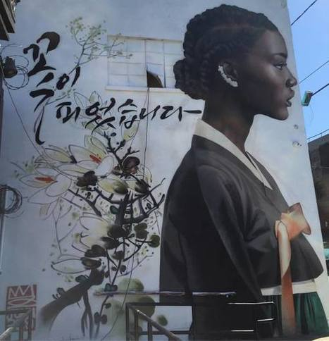Korean graffiti artist celebrates black women's beauty | Les Gentils PariZiens : style & art de vivre | Scoop.it