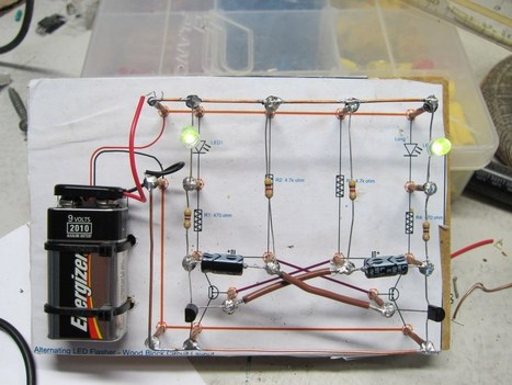 LED Flasher Circuit Project for Kids | Makers | Scoop.it