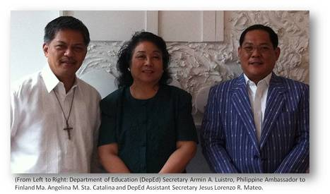 Ambassador Sta. Catalina discusses Education Cooperation with Finland with DepEd Secretary | Finland | Scoop.it
