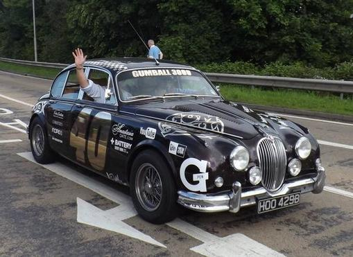 63 MK2 in the 2014 Gumball rally!  Jaguar Mk2
