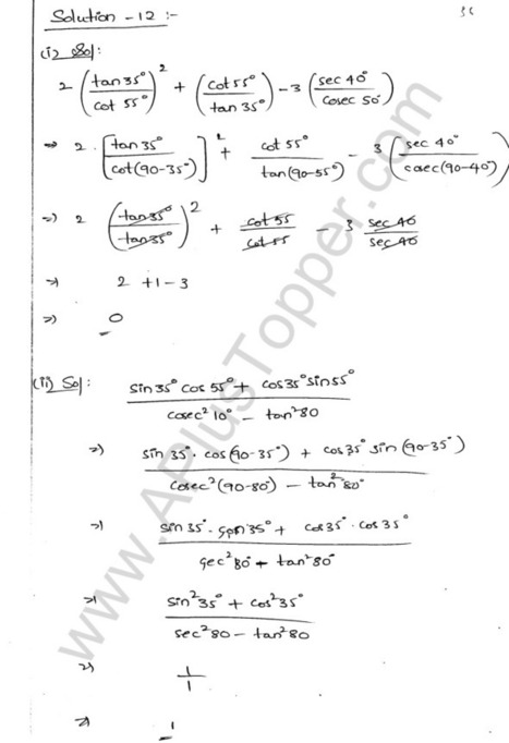 Maths, Science (All Subjects) Solutions for All Classes