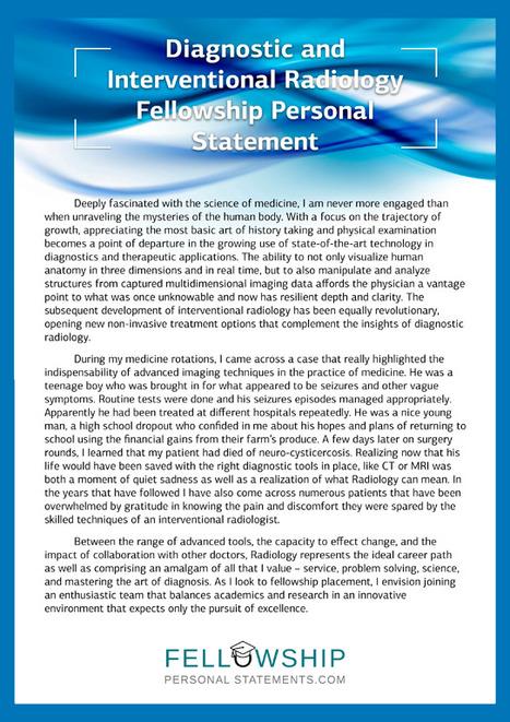 Sleep Medicine Fellowship Personal Statement Sa