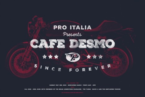 Pro Italia Holds Café Desmo  2015 at Newcomb's Ranch - May 3rd | Ductalk Ducati News | Scoop.it
