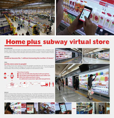 Mobile Smart Phone Grocery Shopping in Subway Stations | Designs & Ideas on Dornob | e-Skills Showcase Céline Merchiers | Scoop.it