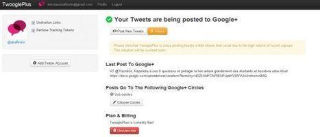 TwooglePlus, liez votre compte Twitter à Google+ - Blog du modérateur | Le métier de community manager | Scoop.it