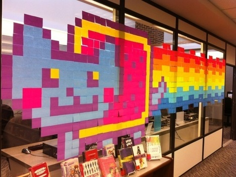 Post It Note Art (Guest Post by Stacey Costabile) — @TLT16 Teen Librarian Toolbox | LibraryLinks LiensBiblio | Scoop.it