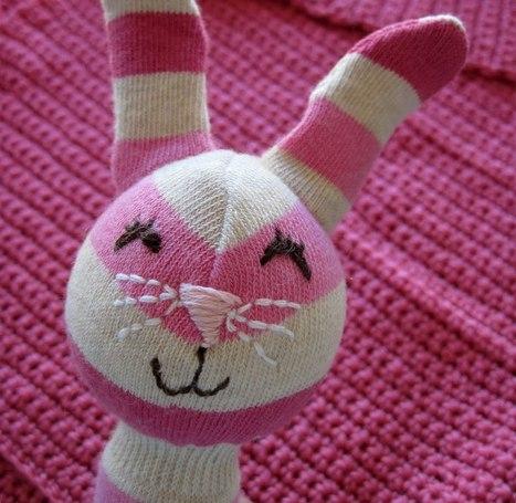 Bunny Rabbit Craft Cucito Kit Box Calico Cuori bambola di pezza shabby chic natale un