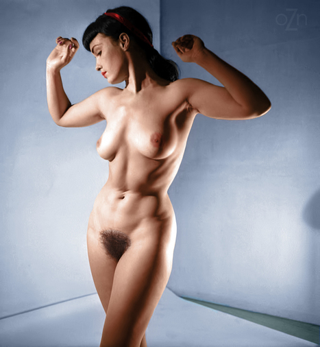 Bettie Page nude in the studio, photography by... - Old iZ New   Fine girls   Scoop.it