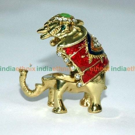 Brass Elephant Open 3pcs Indian Handicrafts O