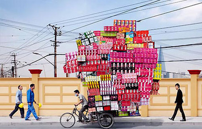 Compelling series by photographer Alain Delorme: Chinese Bike Couriers Doing Their Thing | Visual*~*Revolution | Scoop.it